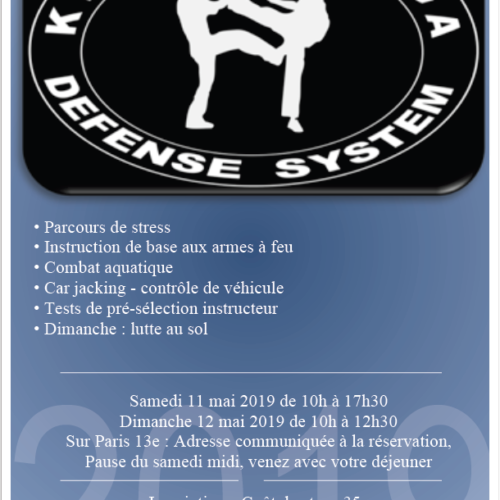 stage federal 11 et 12 mai 2019