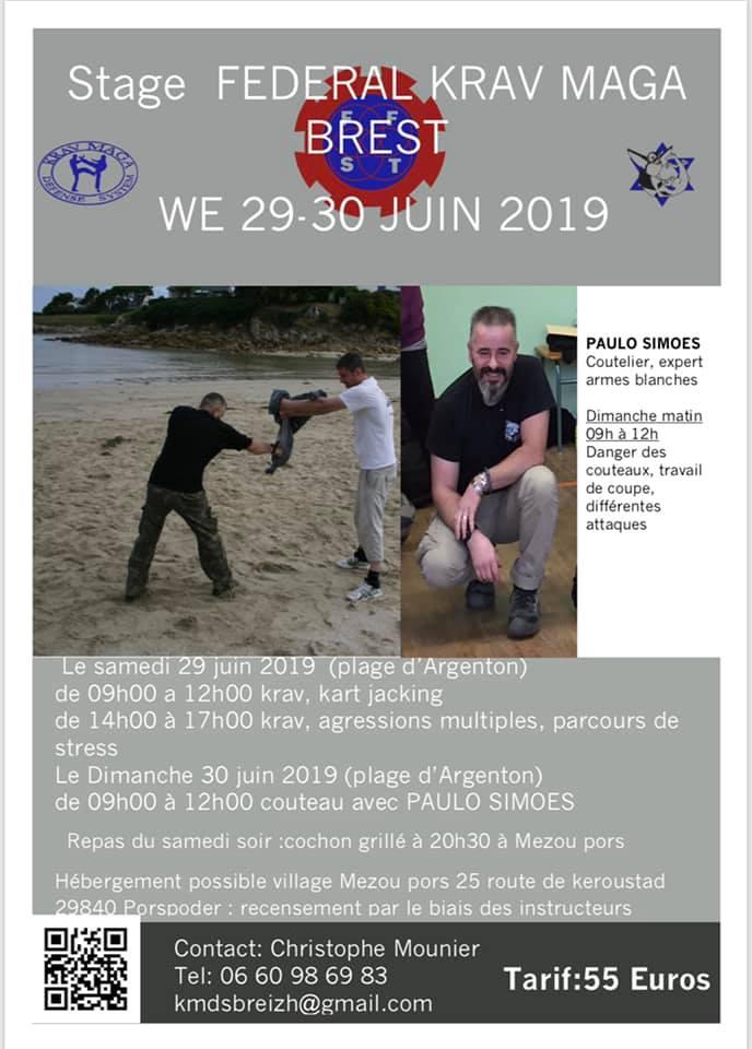 stage fédéral BREST 29 et 30 juin 2019